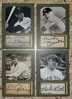 Babe Ruth, Mickey Mantle, Joe DiMaggio, Lou Gehrig Photo Studio Custom Cards
