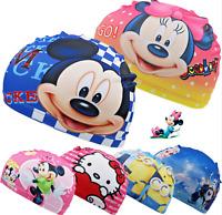 Cartoon Character Kids Children Fabric Swimming Hat SwimCap 2-8 years Boys Girls