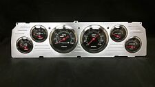 1964 1965 1966CHEVY TRUCK 6 GAUGE DASH CLUSTER BLACK