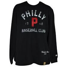 MLB Negro National League Starter Philadelphia Stars Pullover Sweater Mens Black