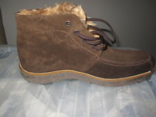 GORGEOUS  FUR LINED BROWN LEATHER BOOTS  SIZE 7 WORN ONCE !