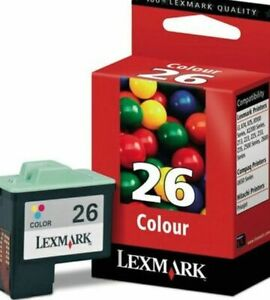 Genuine Lexmark No 26 Colour Ink Cartridge 10N0026E