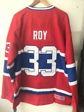 NWT Patrick Roy #33 Montreal Canadiens Throwback CCM Jersey size XL (52)
