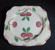 "Southern Potteries Blue Ridge:  Pretty ""Autumn Apple"" Square Plate  (14417)"