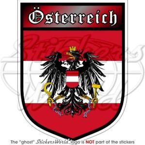 ÖSTERREICH Österreichischer Schild 100mm Auto Aufkleber Sticker Vinyl