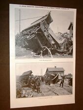 Disastro ferroviario Villepreux nel 1910 Tender vittime Treno + Somalia Gheledi