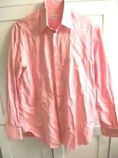 Men's Armani Collezioni Pink Rose Button Front Dress Shirt Long Sleeve 39 / 15.5