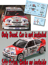 Decal 1:43 Luis Monzon - FORD ESCORT COSWORTH - Rally Gran Canaria 1995