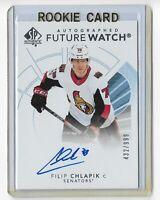 2017-18 SP Authentic hockey Future watch auto /999 Filip Chlapik Ottawa Senators