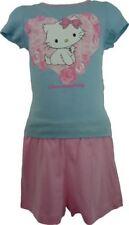 Pyjamas bleu à manches longues pour fille de 2 à 16 ans en 100% coton