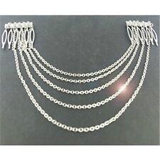 Boho Chic Head Band Hair Cuff Pin Chains Tassels Hair Band 2 Combs Combs