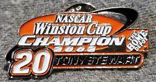 LMH PINBACK Pin  2002 NASCAR Winston Cup CHAMPION  #20 TONY STEWART  Home Depot