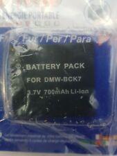 BATTERY DMW-BCK7 LI-ION 3.7V 700MAH Panasonic DMC-FS14 DMC-FS16, FS18, FS22 FS35