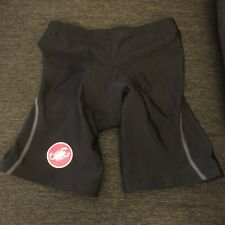 Castelli Padded Cycling Shorts - Women's Black, Xl, With Kiss3 Pad Euc