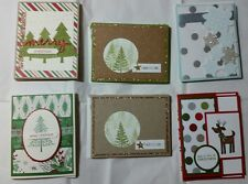 Lot of 6 Assorted Pretty Christmas cards made w/Stampin Up! supplies FREE SHIP