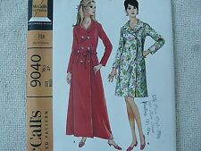 1967 Vintage McCall's Sewing Pattern 9040 Robe house coat robe dress Sz 16 1/2