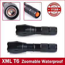 Waterproof CREE 10000LM 5Modes T6 LED 18650 Flashlight Zoomable Focus Torch Lamp