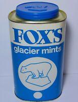 Old Vintage 1970s Fox's Glacier Mints POLAR BEAR GRAPHIC ADVERTISING TIN & LID