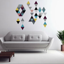 45PCS/SET TRIANGLE WALL STICKERS COLORFUL DECALS DIY NORDIC KIDS ROOM DECOR FUN