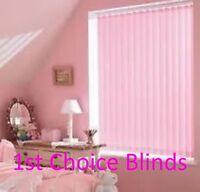 MADE TO MEASURE VERTICAL WINDOW BLINDS BABY PINK GIRLS BEDROOM