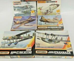 Unbuilt Matchbox 1:72 Model Kits Military Aircraft PK 401 402 411 413 601 605