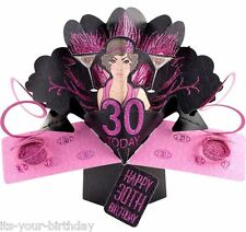 3d Second Nature Baby Shower and All Occasions Pop up Cards 30th Happy Birthday