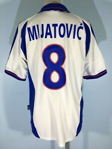 MIJATOVIC YUGOSLAVIA SEBIA 2001 AWAY ADIDAS FOOTBALL SHIRT SOCCER JERSEY MENS M