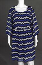 ESPRESSO ROYAL BLUE-BLACK-WHITE DRESS - SIZE 18