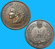 1907 Indian Head Cent Penny Super Sharp Free Mult Shipping (K-2338)