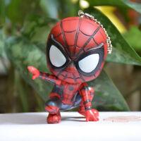 Cartoon Anime Super Hero Spiderman Keychain Child Toy Doll Key Ring Car Pendant