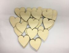 Birch plywood wooden hearts for drop box wedding guest book gift rustic vintage
