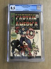 Captain America #100 CGC 8.5 Off White Pgs (Apr 1968, Marvel)