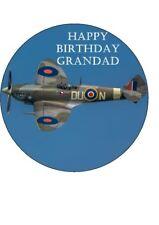 "Spitfire Edible Birthday Cake Topper 7.5"" Round"