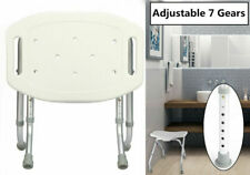 Adjustable Shower Seat Stool Bath Chair Elderly Pregnant Mobility Disability Aid