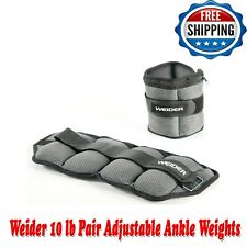 Weider 10 LB Pair Adjustable Ankle Weights