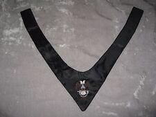 Black Masonic Scottish Rites Cravat Tie Embroidered Fraternity Eagle NEW!