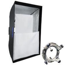 Mettle Square Softbox 80x120 cm con adattatore universale studio fotografico flash studio