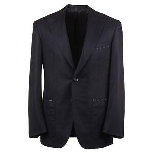 Oxxford Modern-Fit 'Archer' Black Cashmere Sport Coat with Peak Lapels 40R
