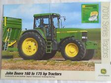 John Deere  160 to 175HP 7010 Series Tractors brochure Feb 2003 English text
