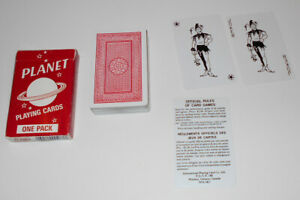 Vintage Planet Playing Cards International Playing Card Company Bridge Size VGC