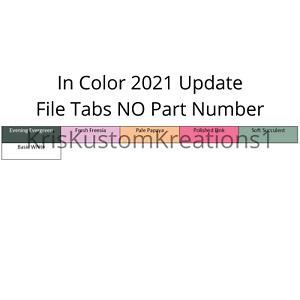 Stampin Up Paper Cardstock 2021 - 2023 Tool Hanging Folder File Tabs Organizer