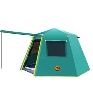 UV hexagonal aluminum pole automatic Outdoor camping wild big tent heavy duty