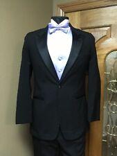 39R Tuxedo Black Jacket Formal Steampunk Cosplay Dance Wedding Theater 81AB