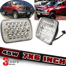 FOR TOYOTA PICKUP TRUCK 7 X 6 INCH SEALED BEAM WHITE LED HEADLIGHT W/ H4 BULB