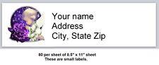 80 Small Return Address Labels Angel Buy 3 Get 1 Free A1