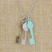 Wonderful Movie Ready Player One Movie Three Keys Charm Pendant Necklace Gift