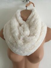 PRIMARK FAUX FUR SNOOD AGE 3-7 YEARS CREAM NEW