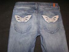 7 For All Mankind Jeans Slim Straight Distressed Nolita Butterfly NOL Pocs Sz 27