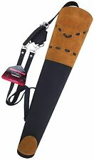 NEW TRADITIONAL SUEDE BACK ARROW QUIVER ARCHERY PRODUCTS AQ-133 BLACK