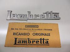 """RARE orig.innocenti 1950 """" S LAMBRETTA LC Avant pied protection BADGE N. O. S."""